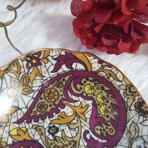 Jewelry - Hispania Manises Paisley Print Jewelry Dish